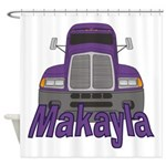 Trucker Makayla Shower Curtain