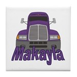 Trucker Makayla Tile Coaster
