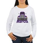 Trucker Marcia Women's Long Sleeve T-Shirt