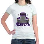 Trucker Marcia Jr. Ringer T-Shirt