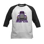 Trucker Marcia Kids Baseball Jersey