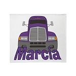 Trucker Marcia Throw Blanket