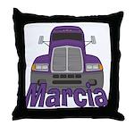 Trucker Marcia Throw Pillow