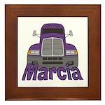 Trucker Marcia Framed Tile