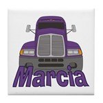 Trucker Marcia Tile Coaster