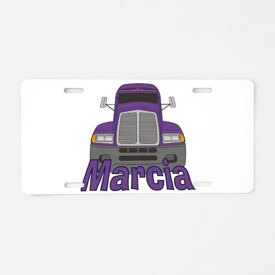 Trucker Marcia Aluminum License Plate
