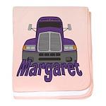 Trucker Margaret baby blanket