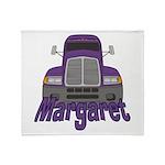 Trucker Margaret Throw Blanket
