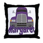Trucker Margaret Throw Pillow