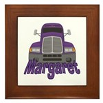 Trucker Margaret Framed Tile