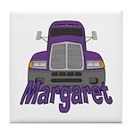 Trucker Margaret Tile Coaster