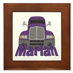 Trucker Mariah Framed Tile