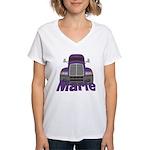 Trucker Marie Women's V-Neck T-Shirt