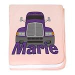Trucker Marie baby blanket