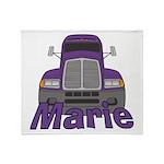 Trucker Marie Throw Blanket