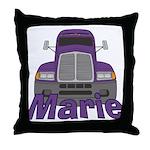 Trucker Marie Throw Pillow