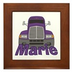 Trucker Marie Framed Tile
