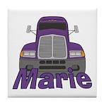 Trucker Marie Tile Coaster