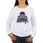 Trucker Marilyn Women's Long Sleeve T-Shirt