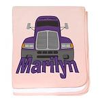 Trucker Marilyn baby blanket