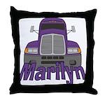 Trucker Marilyn Throw Pillow