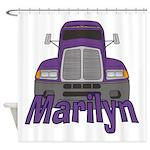 Trucker Marilyn Shower Curtain