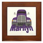 Trucker Marilyn Framed Tile