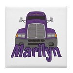 Trucker Marilyn Tile Coaster