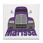 Trucker Marissa Tile Coaster