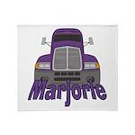 Trucker Marjorie Throw Blanket