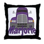 Trucker Marjorie Throw Pillow