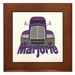 Trucker Marjorie Framed Tile