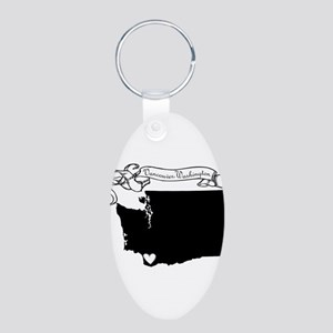 Vancouver Aluminum Oval Keychain