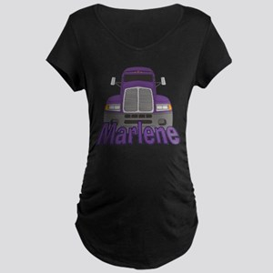 Trucker Marlene Maternity Dark T-Shirt