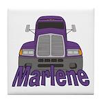 Trucker Marlene Tile Coaster