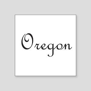 """Oregon Square Sticker 3"""" x 3"""""""
