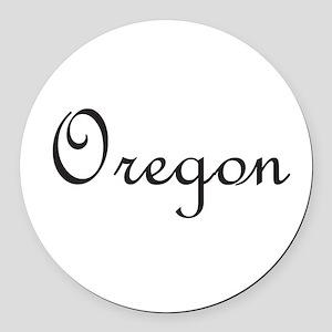 Oregon Round Car Magnet