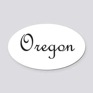 Oregon Oval Car Magnet