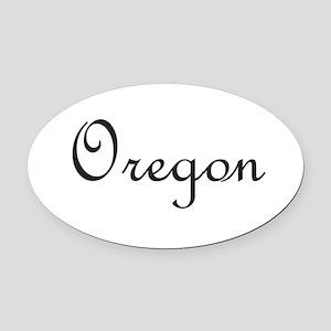 Oregon Oval Car Magnet