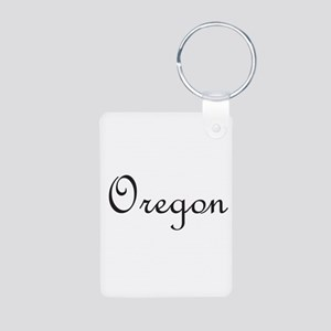 Oregon Aluminum Photo Keychain