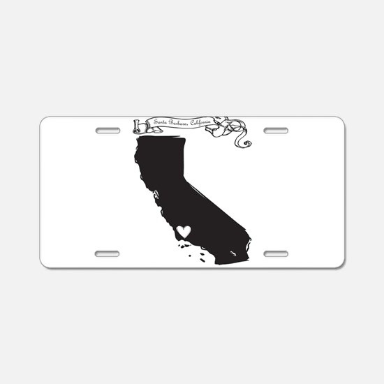 Santa Barbara.png Aluminum License Plate