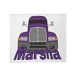 Trucker Marsha Throw Blanket