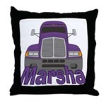 Trucker Marsha Throw Pillow