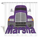 Trucker Marsha Shower Curtain