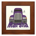 Trucker Marsha Framed Tile