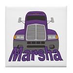 Trucker Marsha Tile Coaster