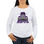 Trucker Martha Women's Long Sleeve T-Shirt