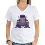 Trucker Martha Women's V-Neck T-Shirt