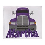 Trucker Martha Throw Blanket
