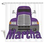 Trucker Martha Shower Curtain